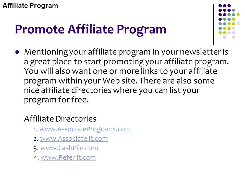 Promote Affiliate Program