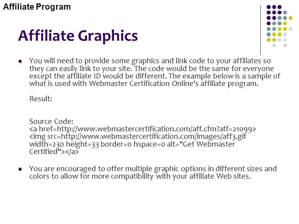 Affiliate Graphics Affiliate Program