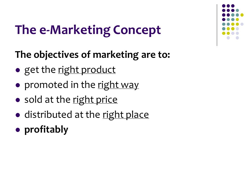 The e-Marketing Concept