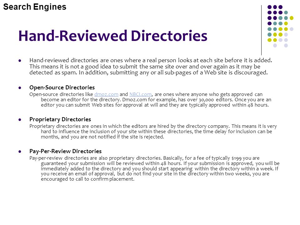 Hand-Reviewed Directories