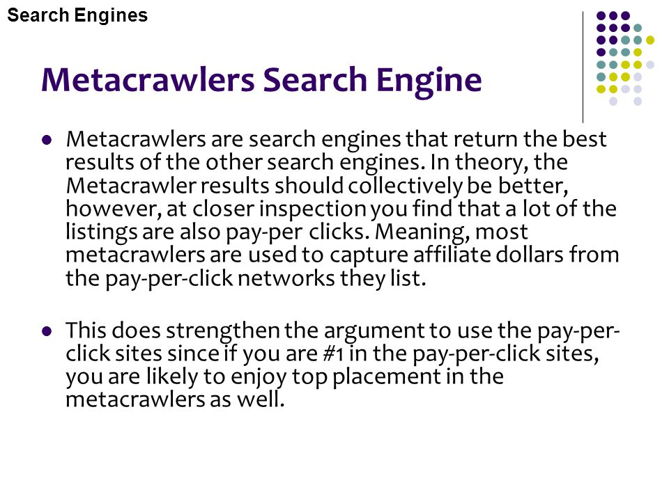 Metacrawlers Search Engine