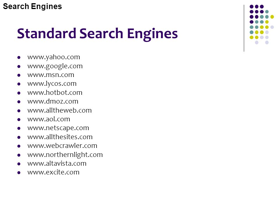 Standard Search Engines