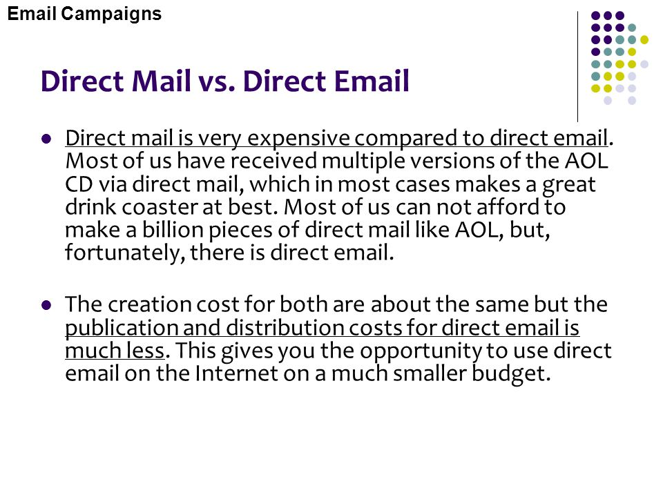 Direct Mail vs. Direct