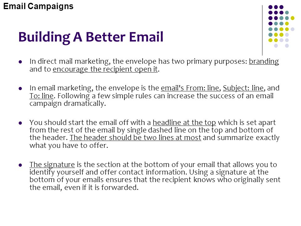 Building A Better Email
