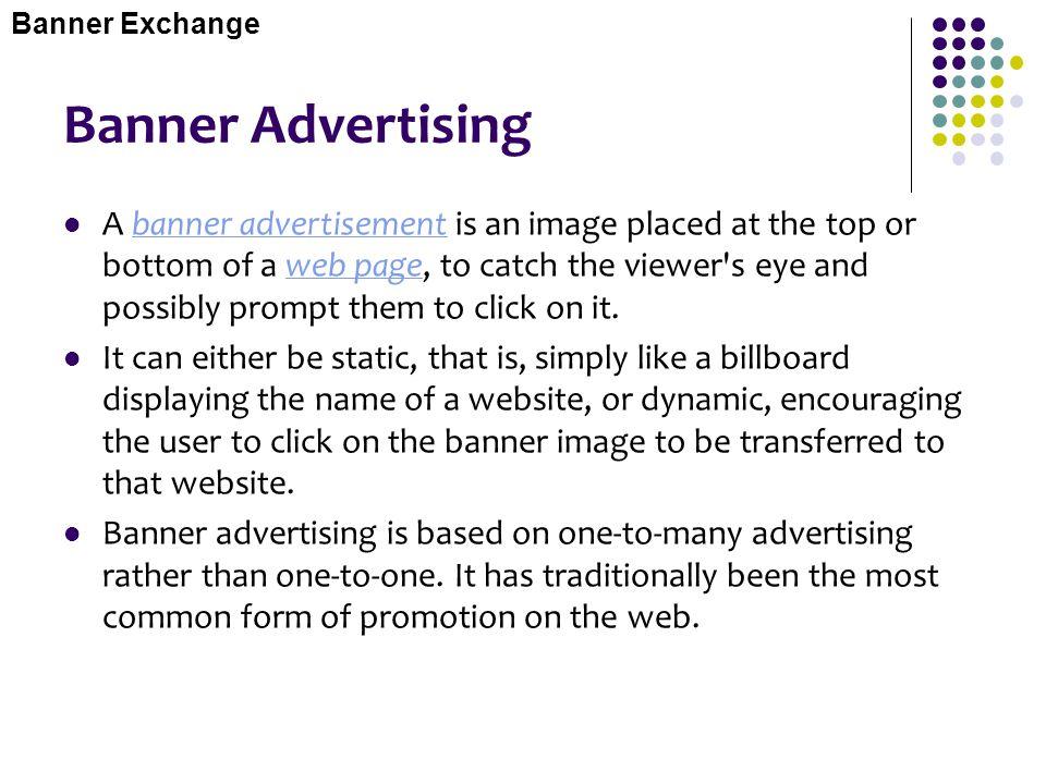 Banner Exchange Banner Advertising.