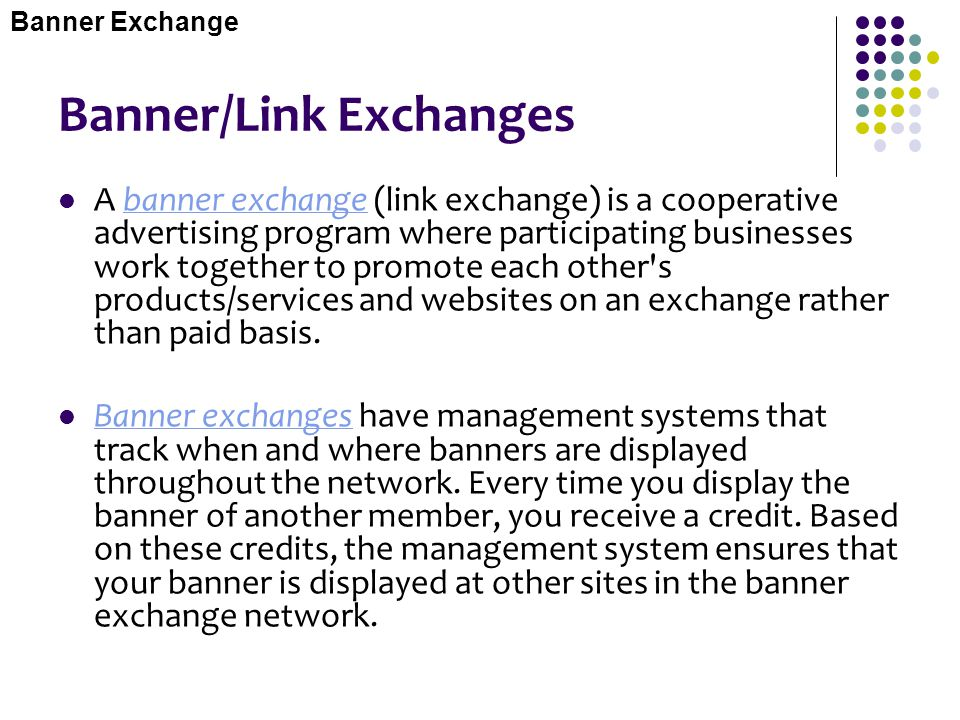 Banner/Link Exchanges