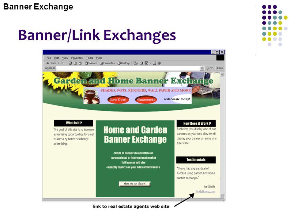 Banner/Link Exchanges