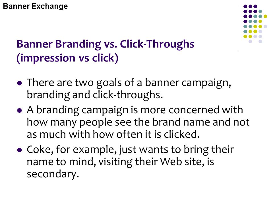 Banner Branding vs. Click-Throughs (impression vs click)