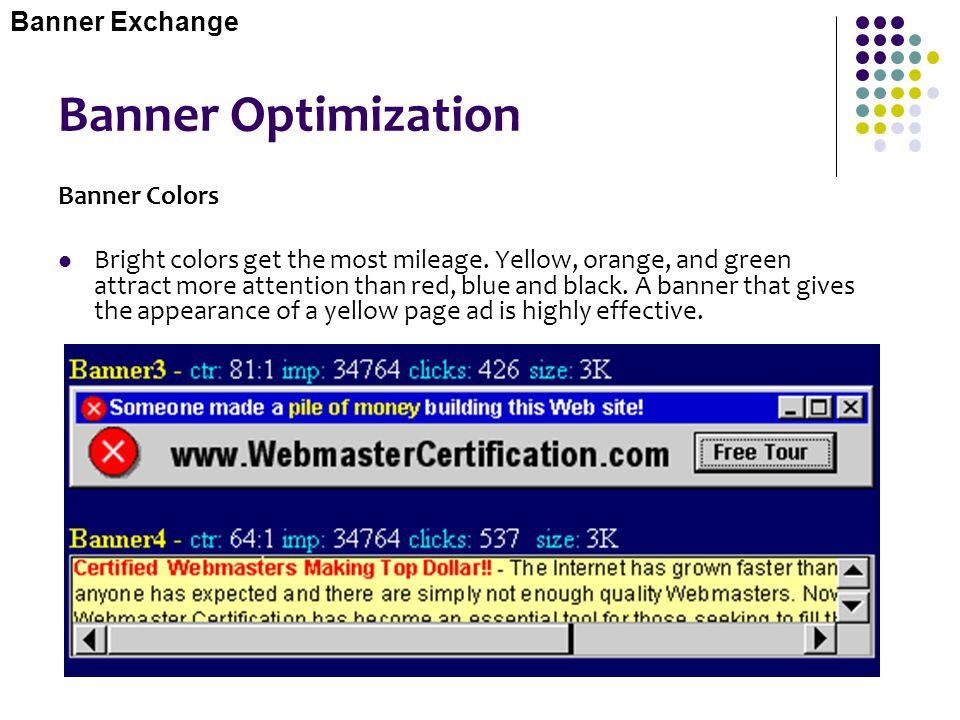 Banner Optimization Banner Exchange Banner Colors