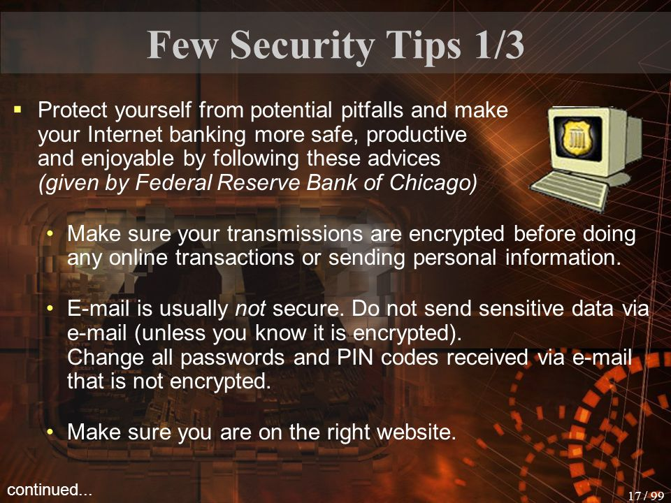 Few Security Tips 1/3