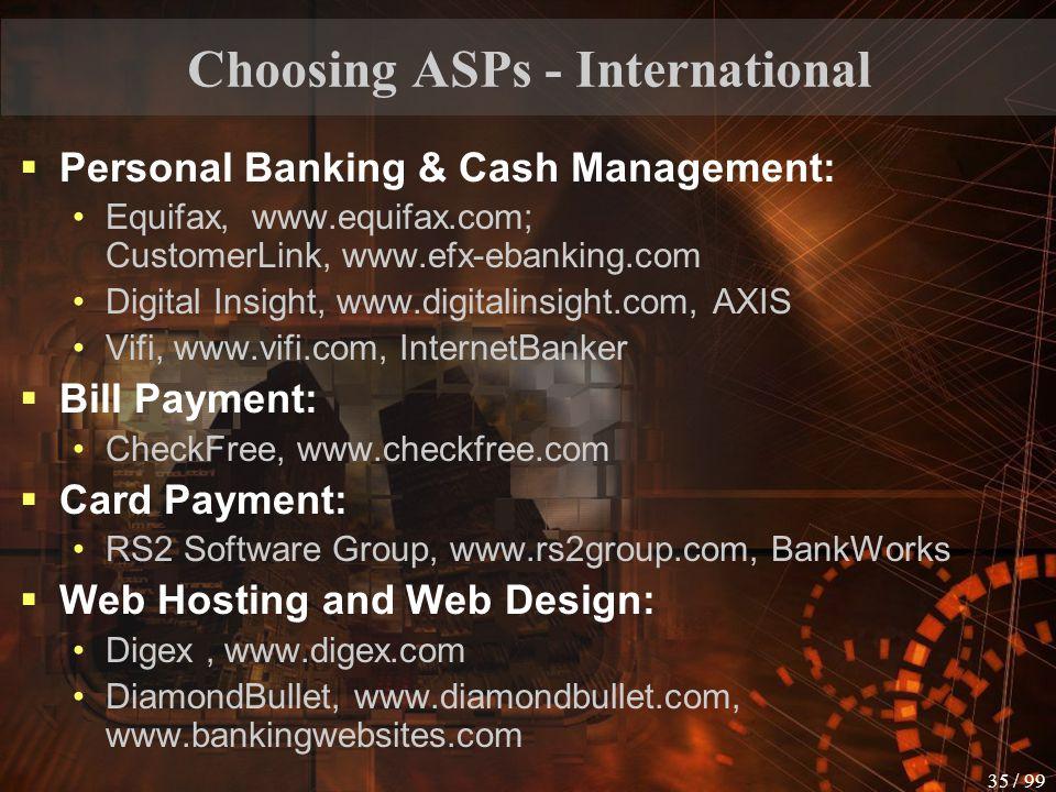 Choosing ASPs - International