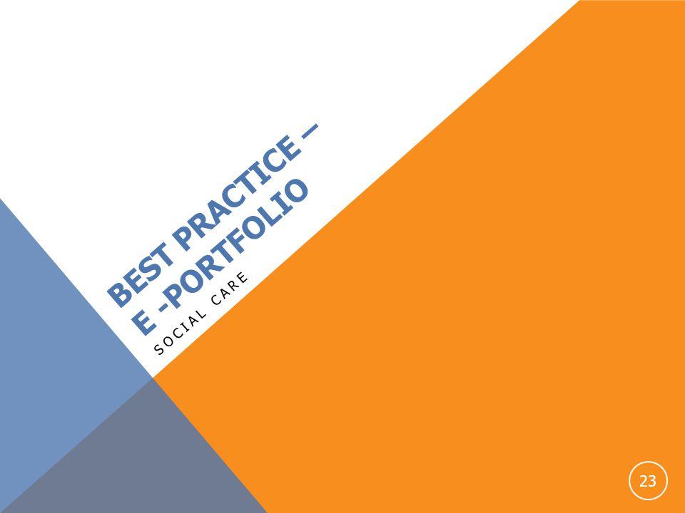BEST PRACTICE – E -PORTFOLIO