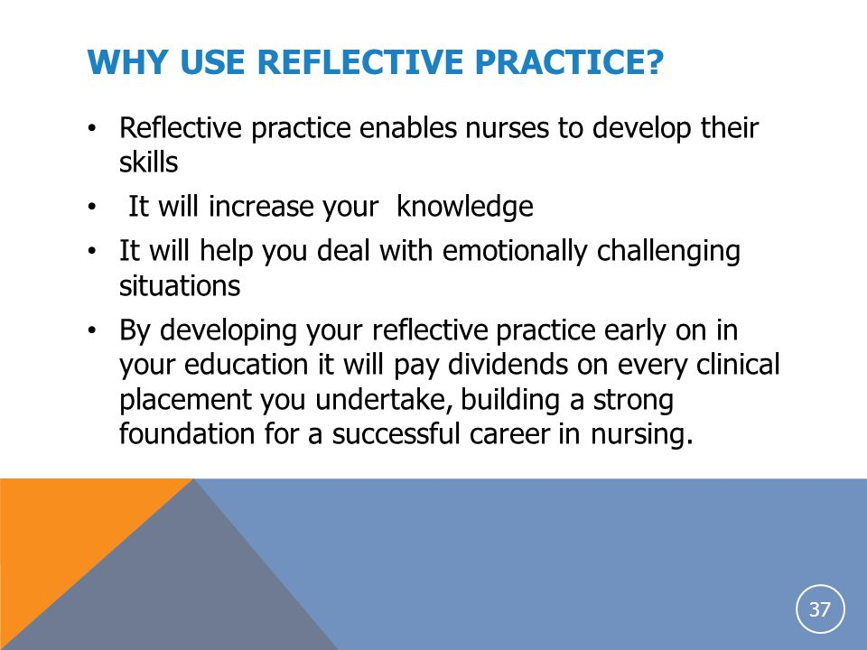 WHY USE REFLECTIVE PRACTICE