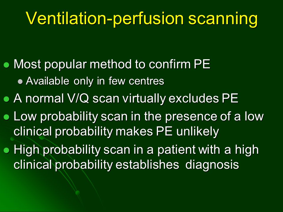 Ventilation-perfusion scanning