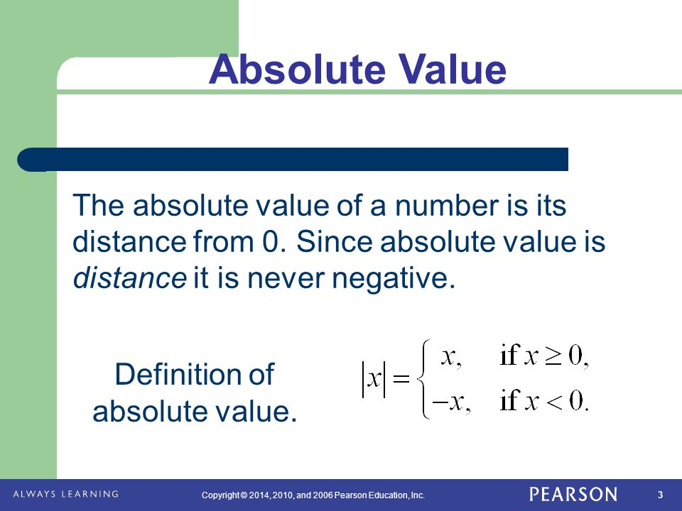 Definition of absolute value.
