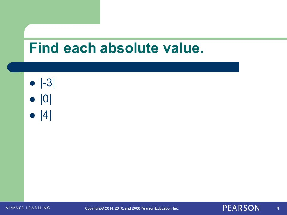 Find each absolute value.