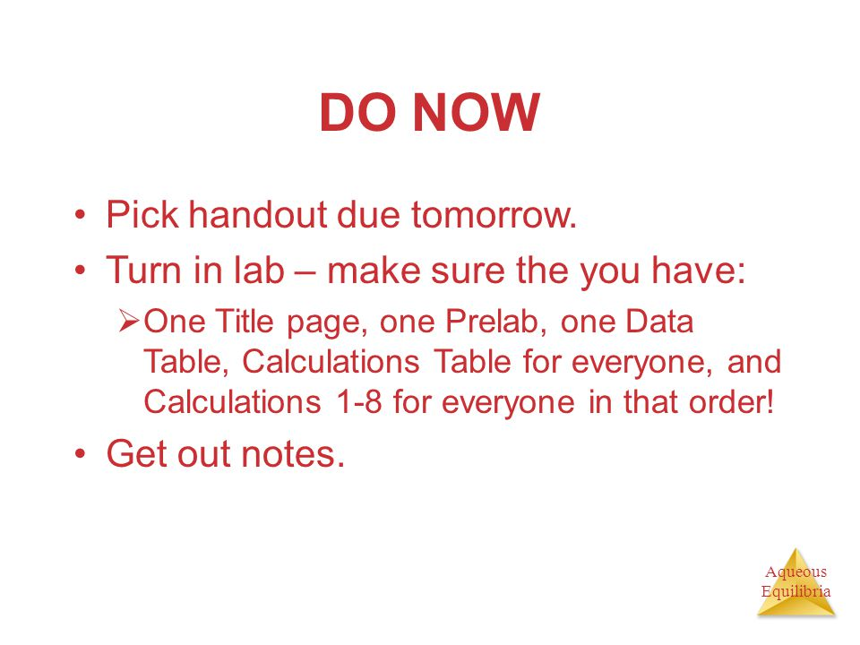 DO NOW Pick handout due tomorrow.