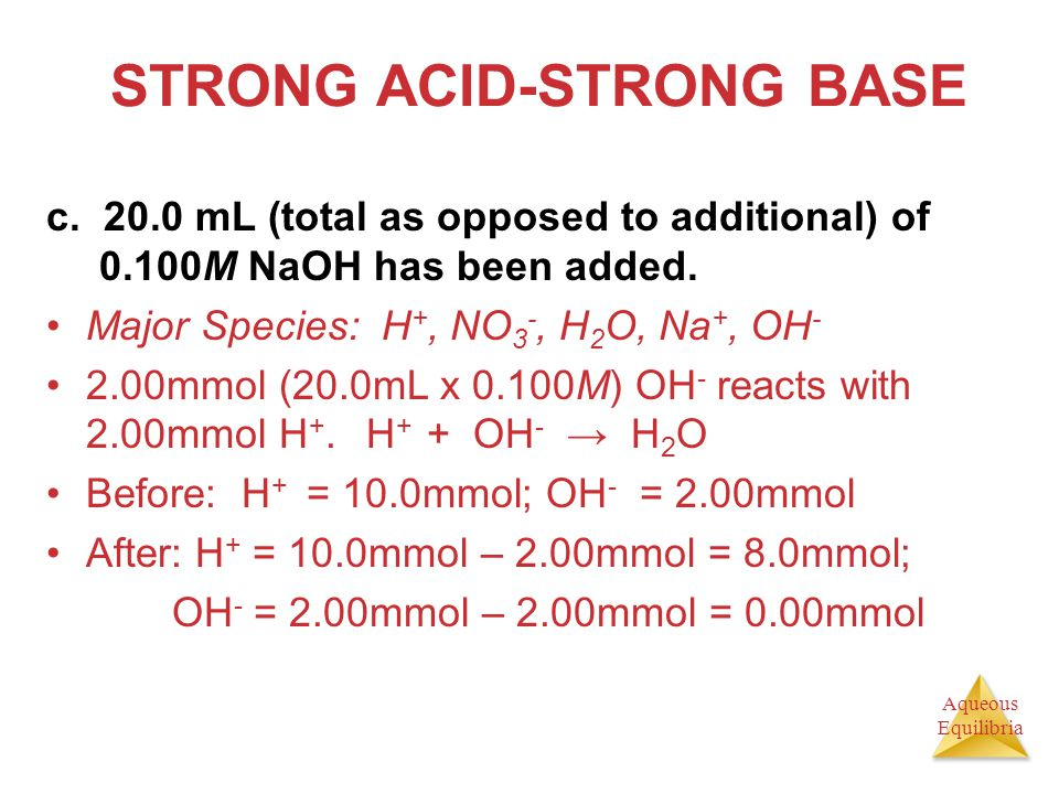 STRONG ACID-STRONG BASE