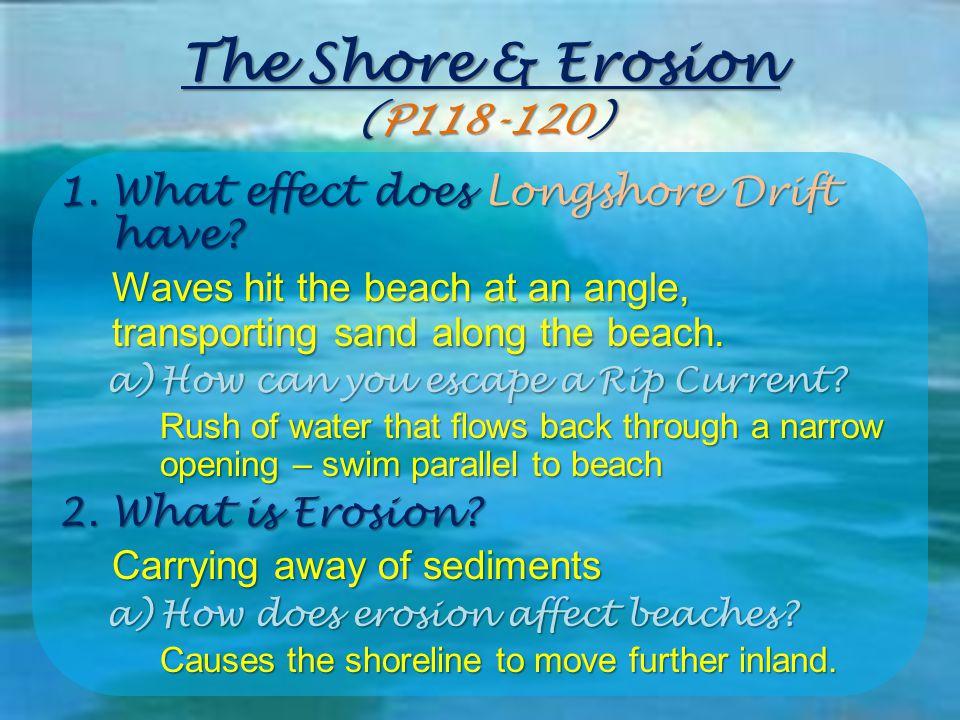 The Shore & Erosion (P118-120)