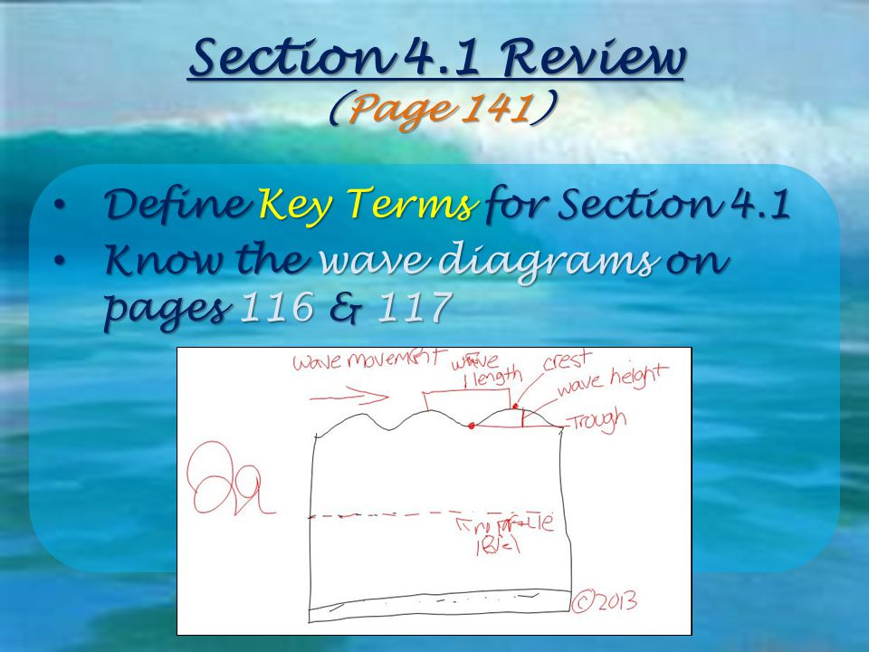 Section 4.1 Review (Page 141) Define Key Terms for Section 4.1
