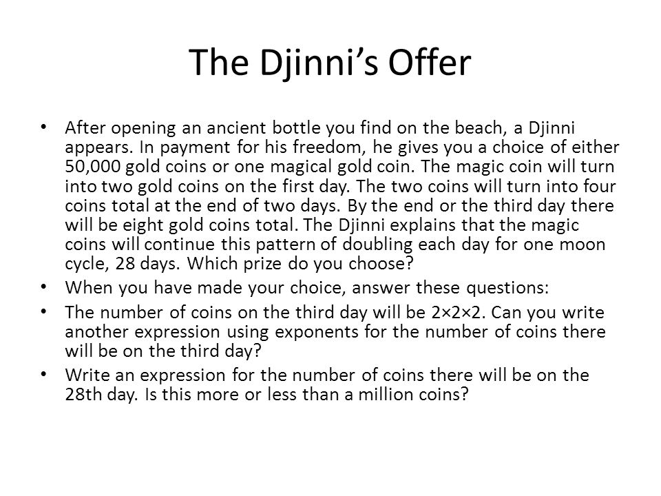The Djinni's Offer