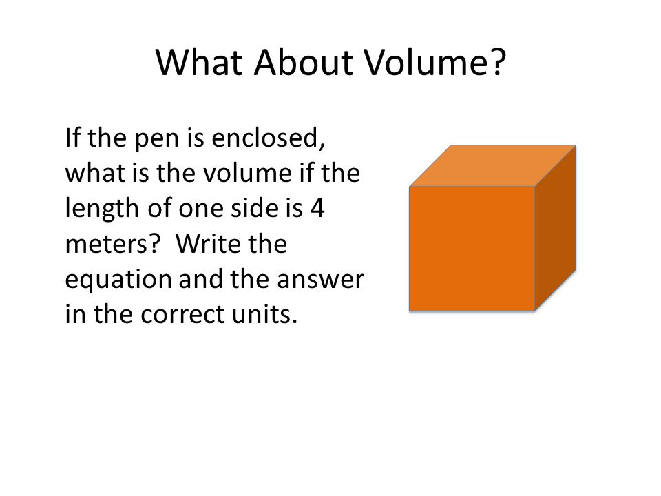 What About Volume