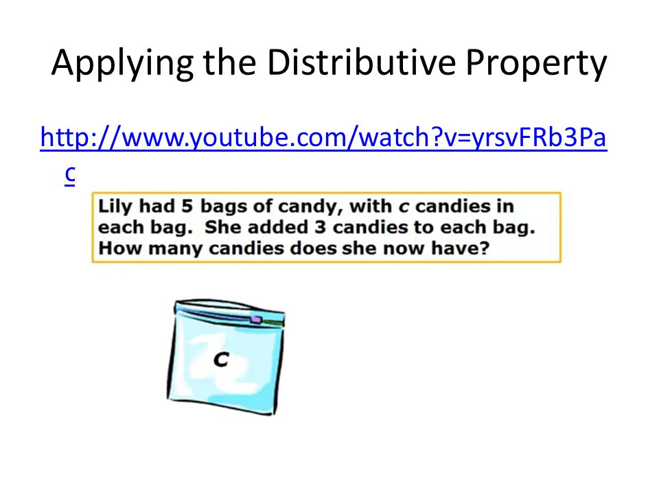 Applying the Distributive Property