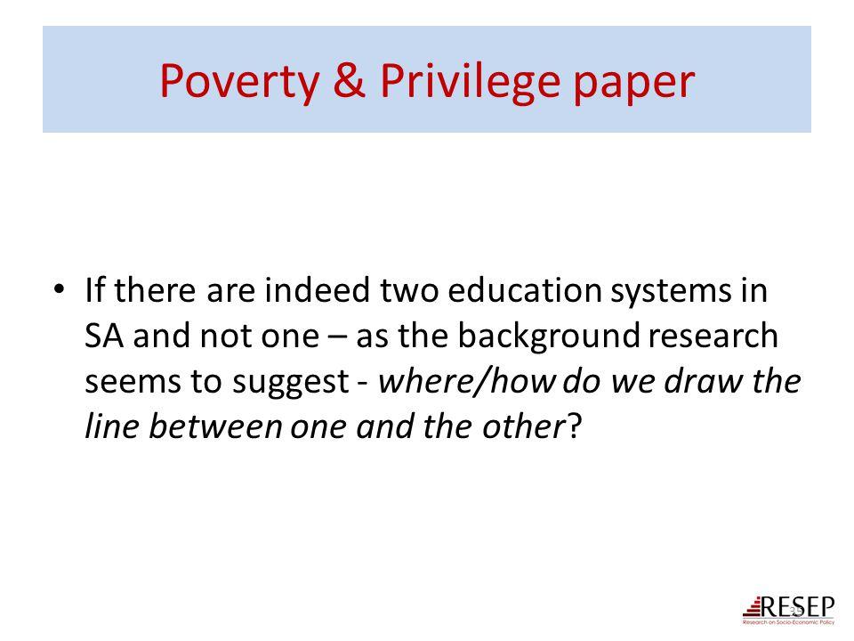 Poverty & Privilege paper