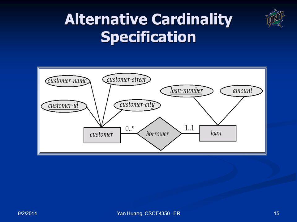Alternative Cardinality Specification