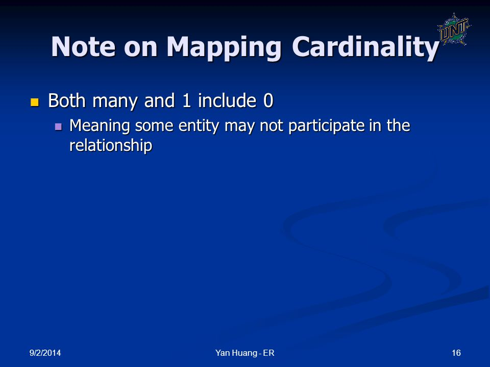 Note on Mapping Cardinality