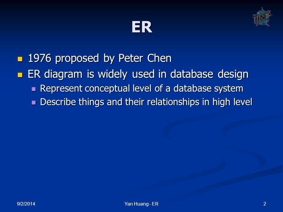 ER 1976 proposed by Peter Chen