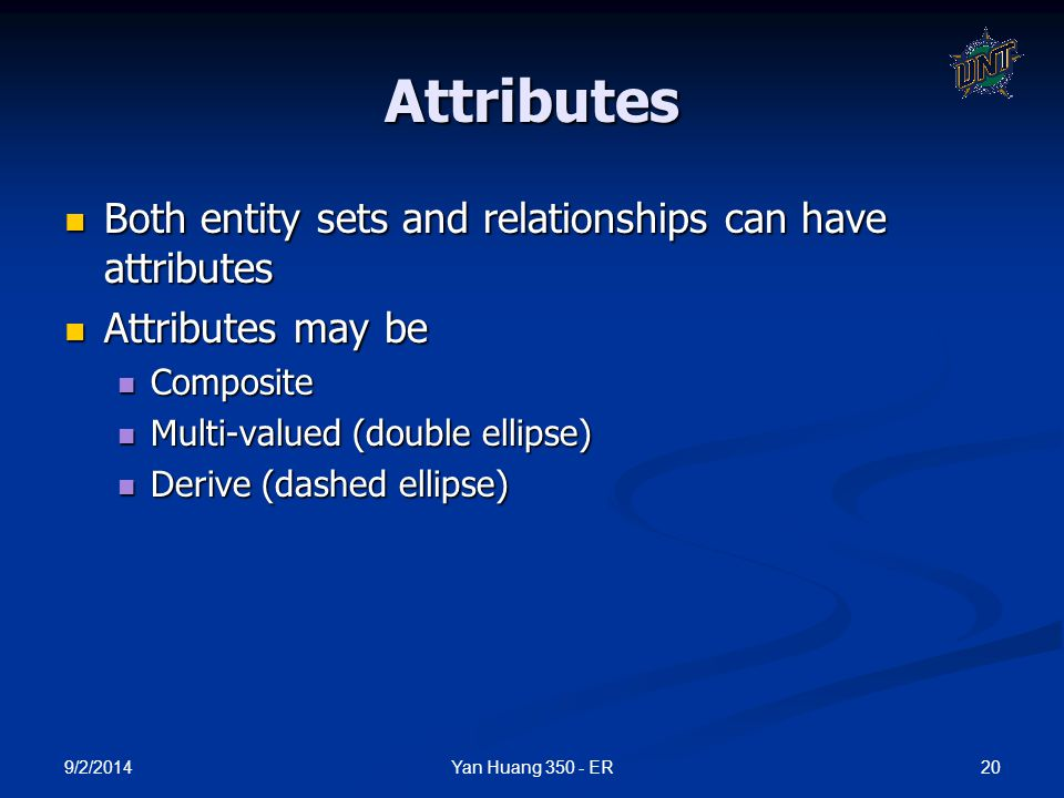 Attributes Both entity sets and relationships can have attributes