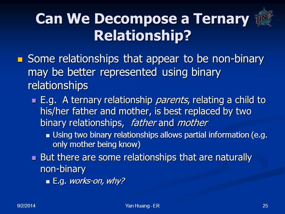 Can We Decompose a Ternary Relationship