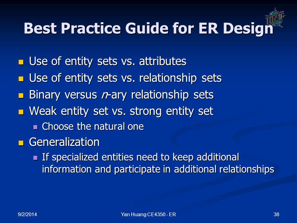 Best Practice Guide for ER Design