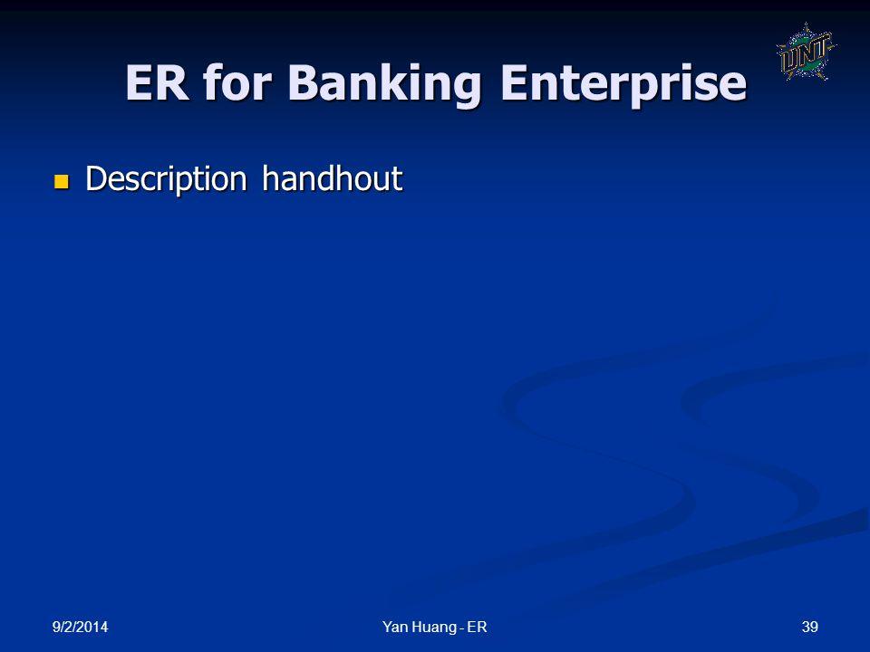 ER for Banking Enterprise
