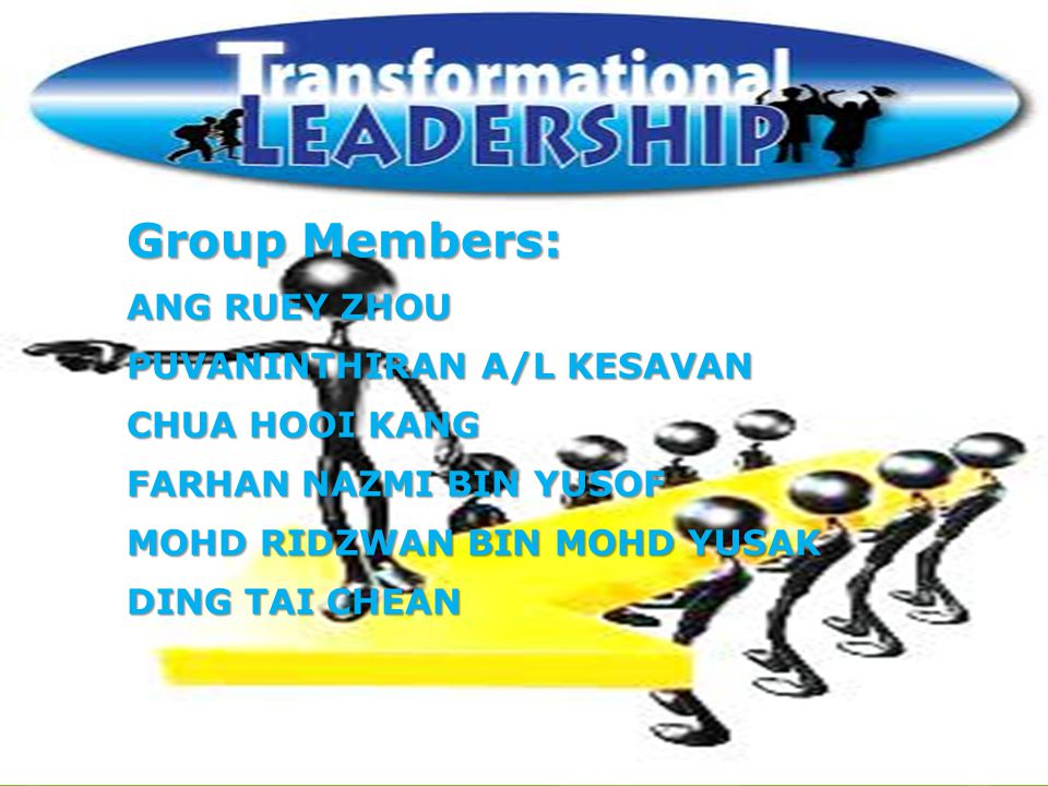 Group Members: ANG RUEY ZHOU PUVANINTHIRAN A/L KESAVAN CHUA HOOI KANG
