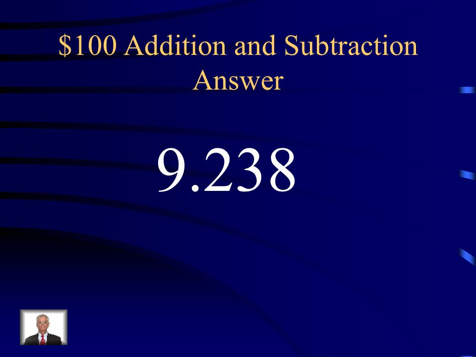 $100 Addition and Subtraction Answer