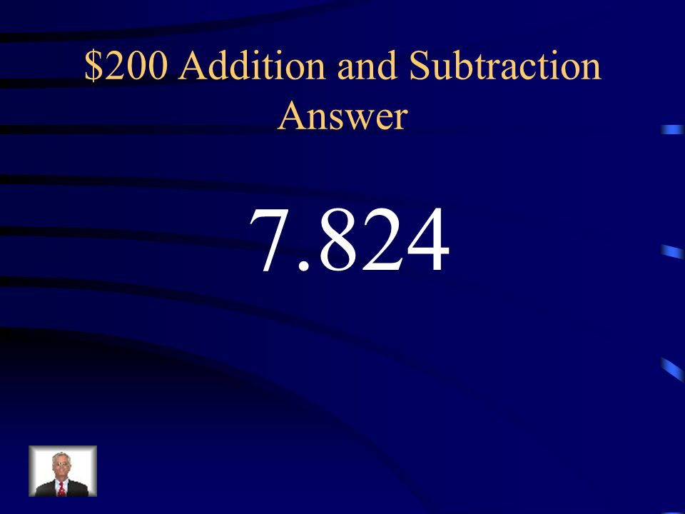 $200 Addition and Subtraction Answer
