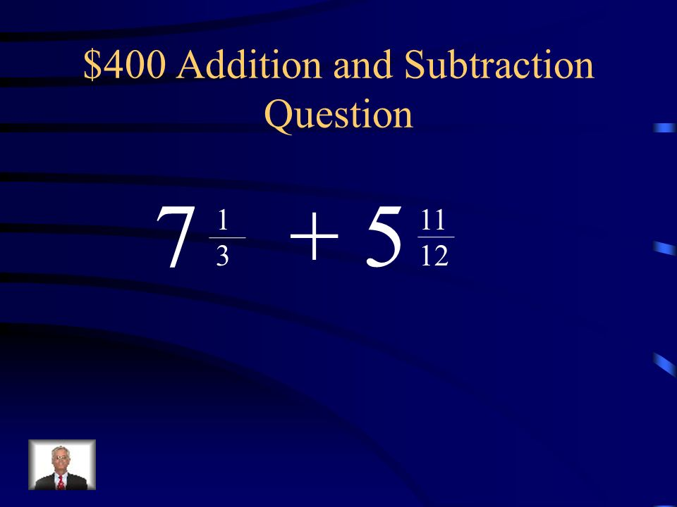$400 Addition and Subtraction Question