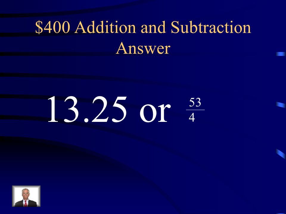 $400 Addition and Subtraction Answer