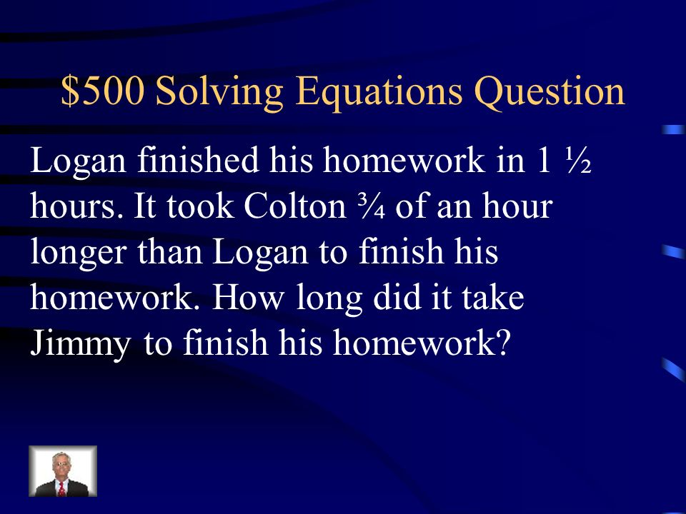 $500 Solving Equations Question