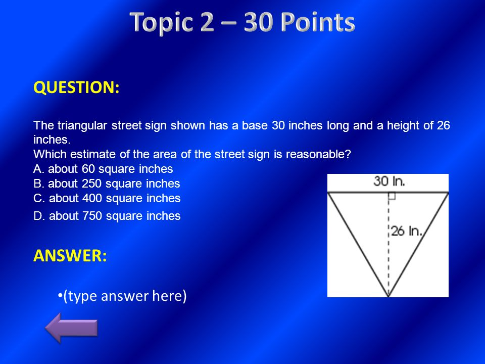 Topic 2 – 30 Points QUESTION: ANSWER: (type answer here)
