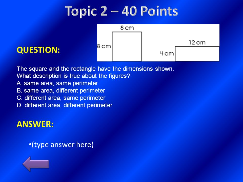 Topic 2 – 40 Points QUESTION: ANSWER: (type answer here)