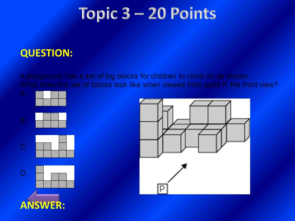 Topic 3 – 20 Points QUESTION: ANSWER: (type answer here)