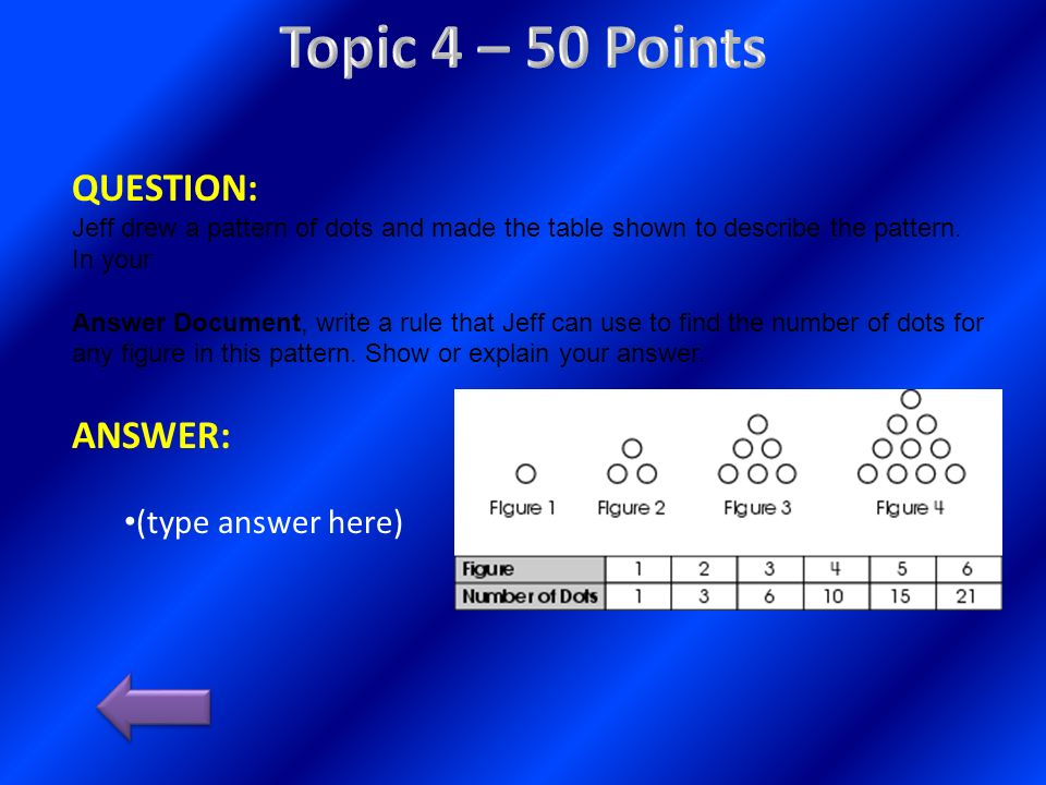 Topic 4 – 50 Points QUESTION: ANSWER: (type answer here)
