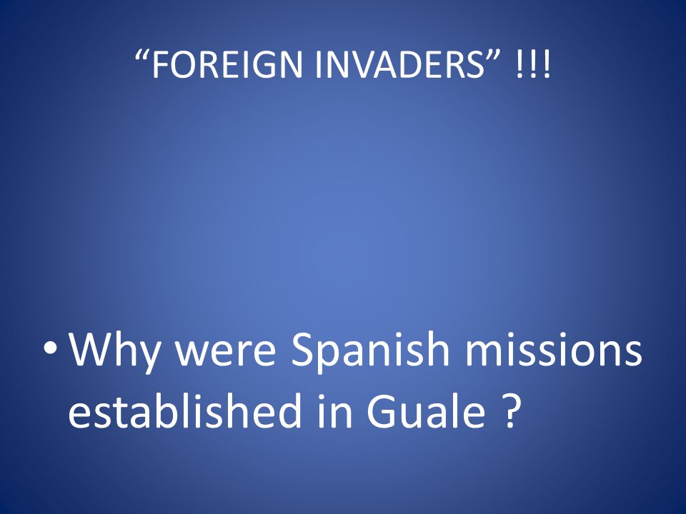 Why were Spanish missions established in Guale