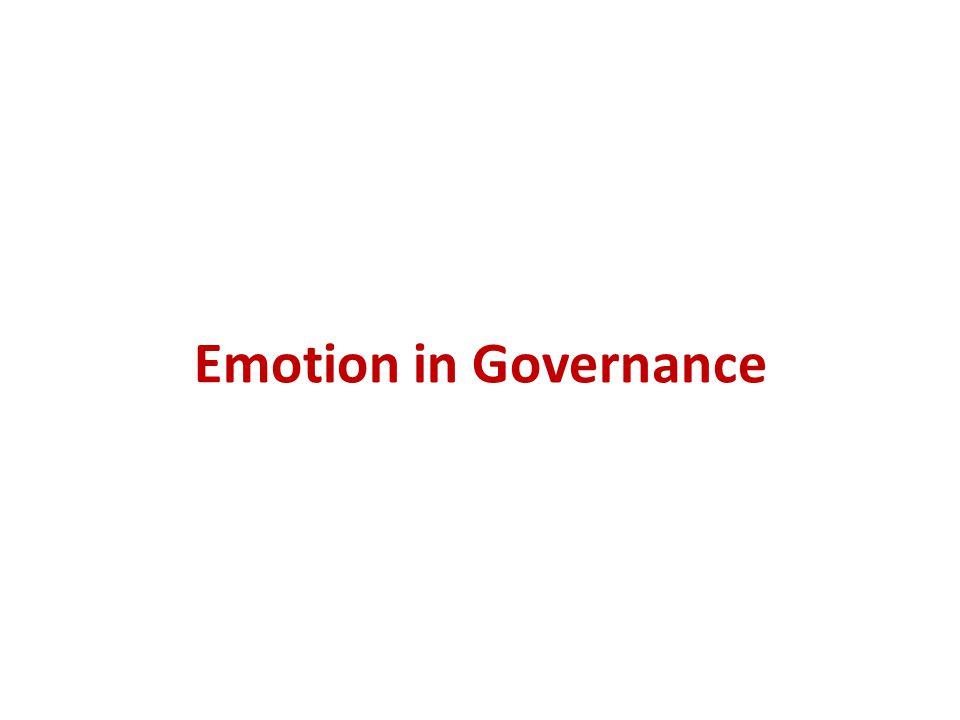 Emotion in Governance