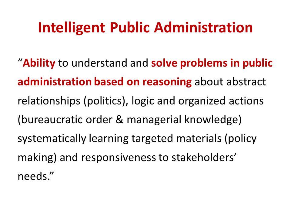 Intelligent Public Administration