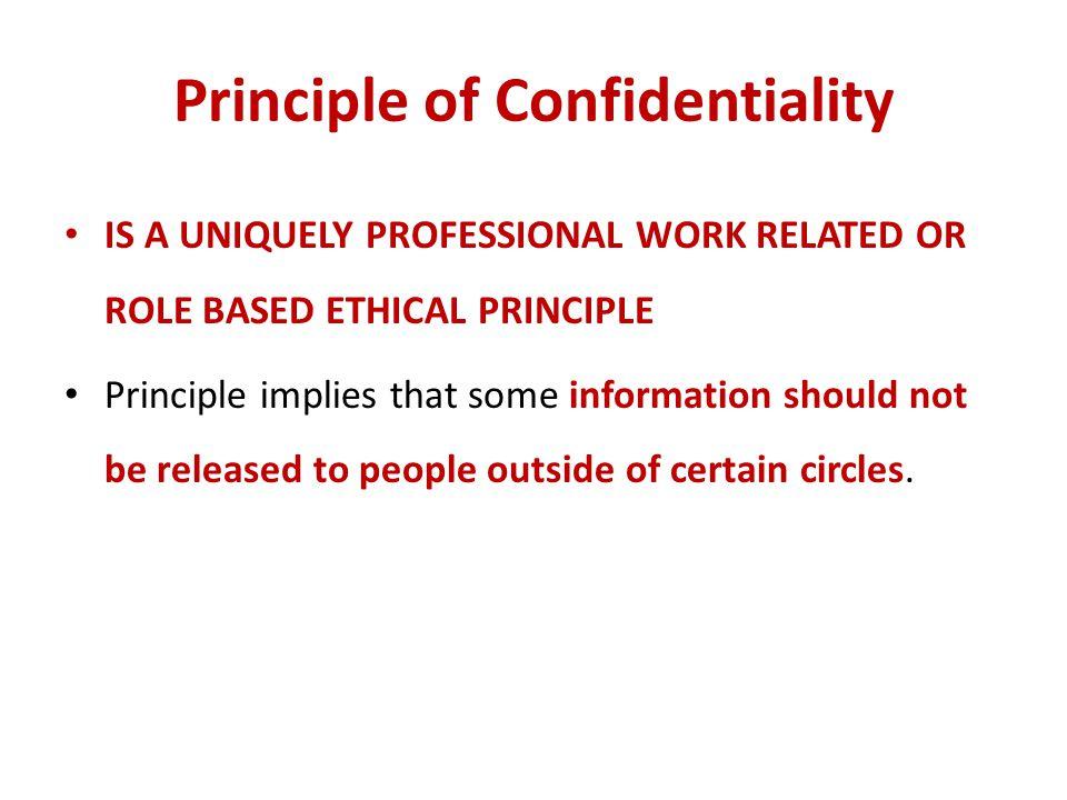 Principle of Confidentiality
