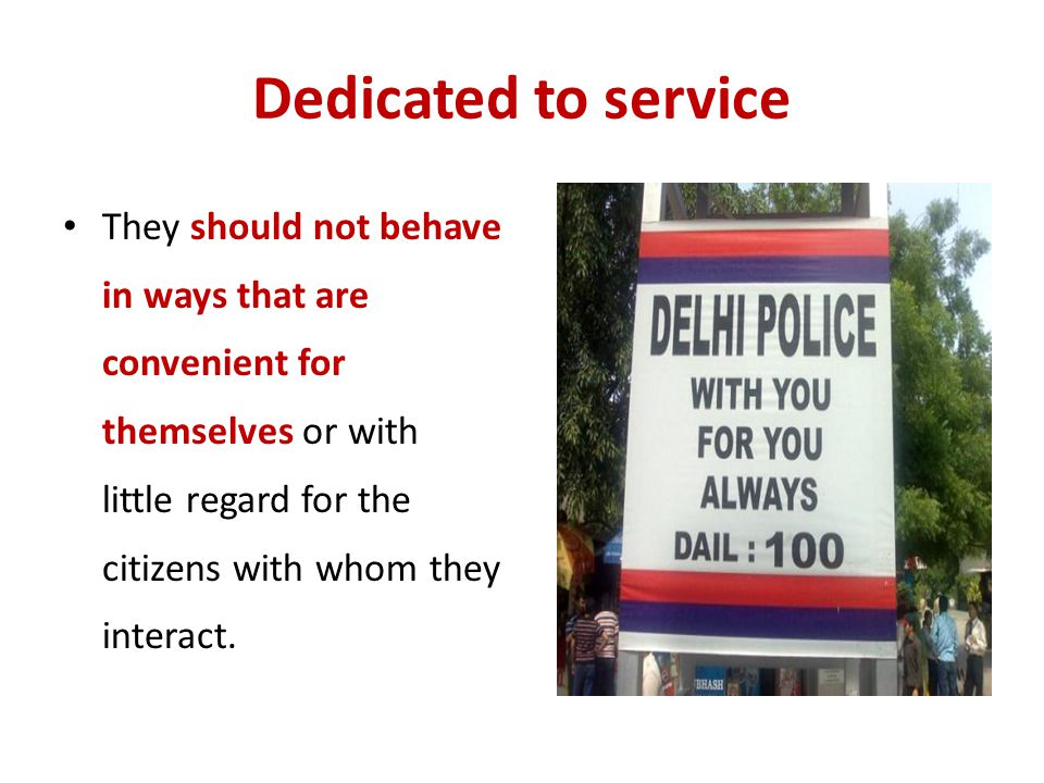 Dedicated to service